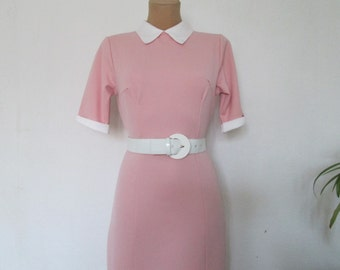 Pretty Dress Vintage / Pink / Pencil Dress / EUR 38 / 10