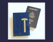 Passport Holder Navy and Gold Travel Passport Case Honeymoon Passport Protector Cruise Passport Cover Personalized Travel Gift ID Wallet