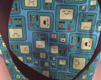 Adventure Time Beemo Canvas Reversible Washable Tote Bag Knitting Bag Book Bag Diaper Bag Beach Bag Library Bag Daycare Bag