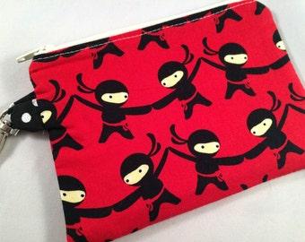 Little Ninjas Small Zippered Pouch
