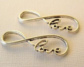 Infinity love pendant charm
