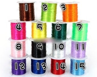 Strong Stretchy Elastic String Beading String Jewelry String - 1 Spool / 10 Meters