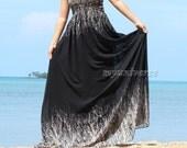 Maxi Dress Cruise Dress Graduation Dress Chiffon Summer Sundress Beach Wedding Guest Dress