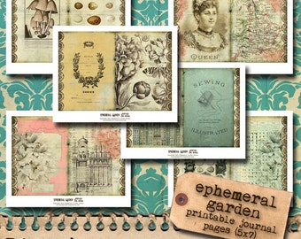 Ephemeral Garden - Printable Journal Pages