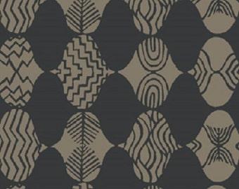 "Fabric 1 Yard Home Decorating Curious Nature EMPIRE MARK Black Grey David Butler 54"" WIDE"