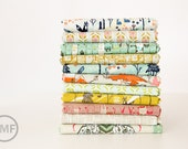 Tokyo Train Ride Fat Quarter Bundle, 11 Pieces, Sarah Watts, Cotton+Steel, RJR Fabrics, 100% Cotton Fabric