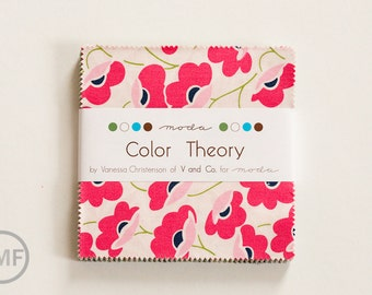 Color Theory Charm Pack, Vanessa Christenson, V and Co, Moda Fabrics, 10830PP