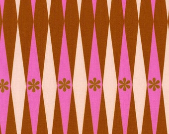 Playful Backgammonish in Pink and Rust, Melody Miller, Cotton+Steel, RJR Fabrics, 100% Cotton Fabric, 0015-3