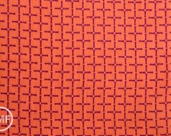 Charms Bamboo in Orange, Ellen Baker for Kokka Fabrics, Double Gauze Cotton Fabric, JG-42100-102A