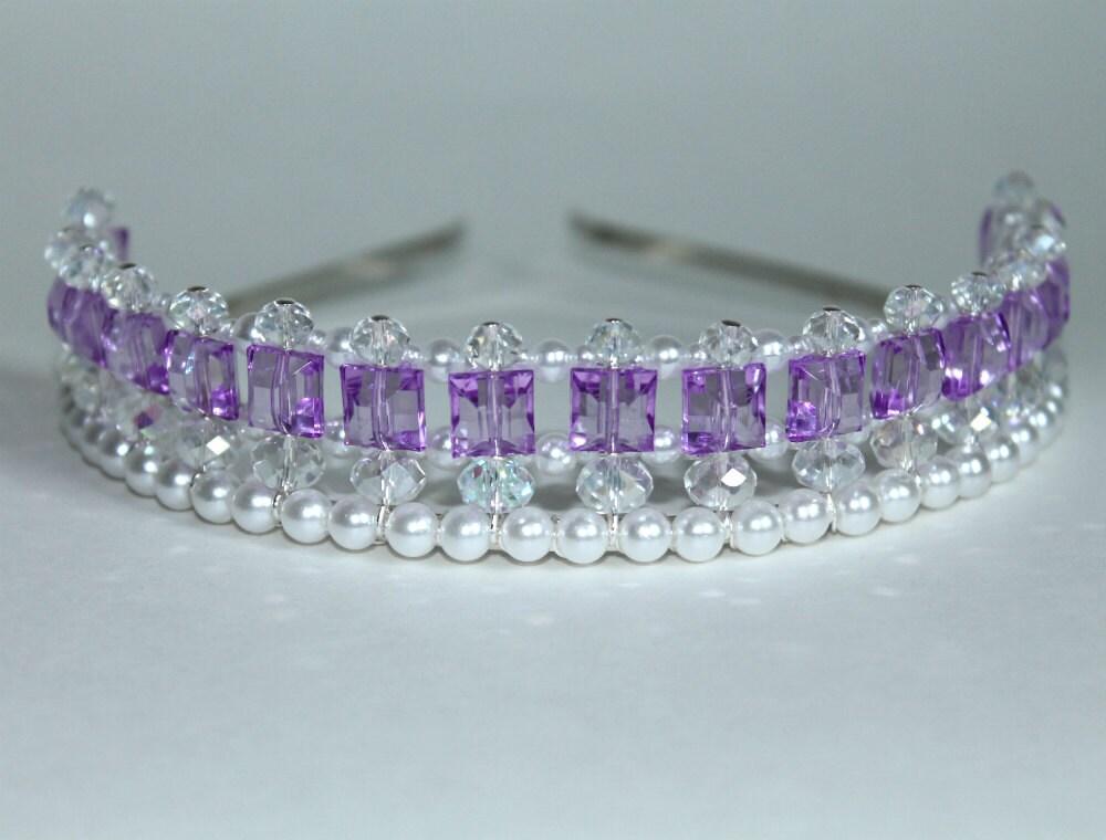 Pretty Purple Princess Tiara Princess Tiara Flower Girl