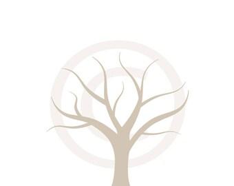 baby shower 8x10 fingerprint chevron gray thumbprint guestbook tree printable diy shabby chic JPEG