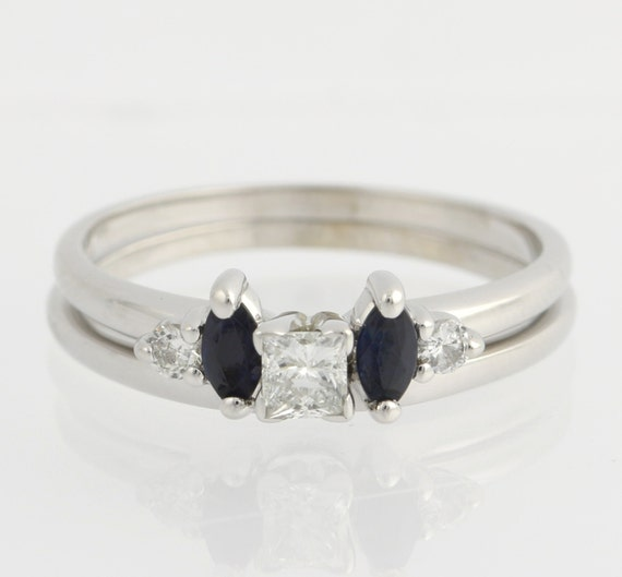 engagement ring sapphire wedding enhancer band by