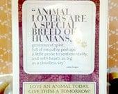 Animal Lovers  Handmade Greeting Card