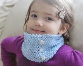 Frozen Inspired Scarf - Children's knitted scarf -   Blue Scarf - Children's Cowl