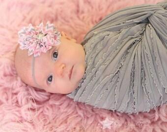 Chevron headband, pink headband, gray headband, baby elastic headband, baby headband, infant headband, newborn headband, baby girl headband