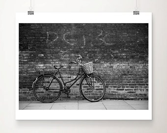 bicycle photograph black and white photography cambridge photograph bicycle print bike photograph travel photography cambridge print