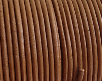 2mm Brown Leather Cord, Greek leather cord, Brown Leather Cord 1m - 1 yard S 40 141