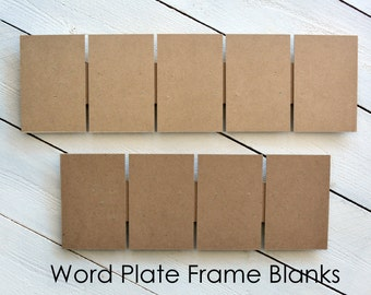 Frame Blanks - use your own photos, any size from 3 to 11 letters