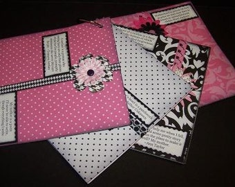 Black, White and Pink 6x6 Chipboard Scrapbook (Mother's Love)
