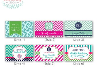 Personalized Gift Enclosure Cards - PRINTABLE