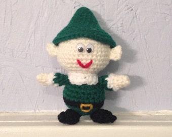 Baby Elf - Crocheted Doll -  Elf Amigurumi