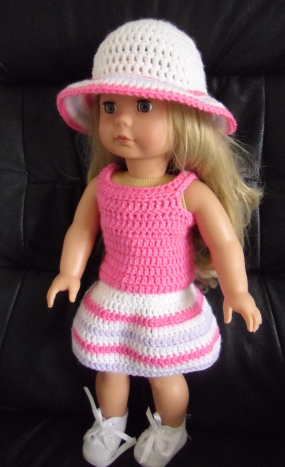 Amigurumi Santa Pattern Free : Crochet pattern for skirt vest and hat for 18 inch doll