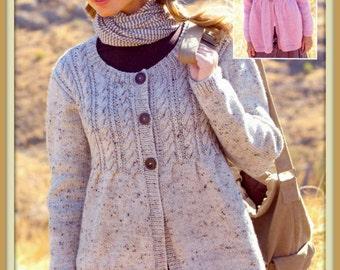 PDF Knitting Pattern For Edge To Edge Jacket by TheKnittingSheep