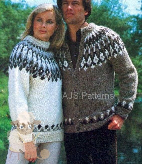 Mens Fair Isle Sweater Knitting Patterns : PDF Knitting Pattern Unisex Fair Isle Fair Isle Sweater