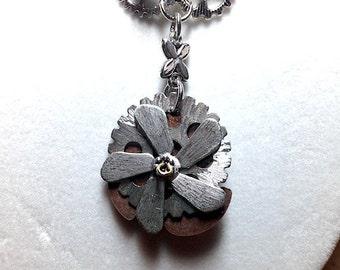 Steampunk Gear Necklace, Propeller, Industrial, Gothic, Statement Necklace