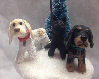 Custom Personalized Three Pet Ornament