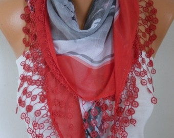 Red Cotton Scarf, Fall Shawl,Oversize Scarf Necklace Cowl Scarf,Gift Ideas for Her Women Fashion Accessories,christmas gift,wedding scarf