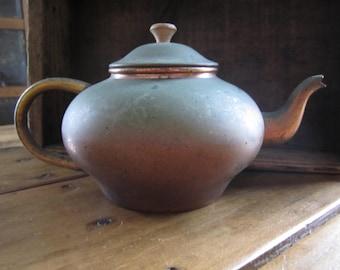 Vintage Rustic  Copper Tea Pot