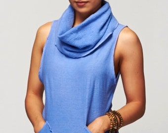 Surya Leela's KALI Vest Hemp Organic Cotton Fleece Hemp Jersey
