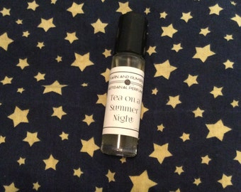 Tea on A Summer Night Perfume Oil Roll On - White tea, Jasmine, Rose notes