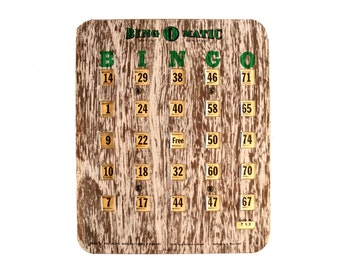 Vintage Metal Bingo Board Card with Metal Shutters, Bing O Matic, Dark Pattern (1950s) - Family Game Room Decor, Collectible, Altered Art