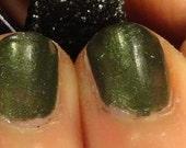 Fir Real Golden Green Indie Nail Polish Holiday/ Christmas 2014