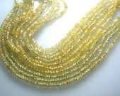 Songea Sapphire Gemstone faceted Roundele Beads AAA Quality 3 To 4 MM  5Strands 14''  Wholesale Price