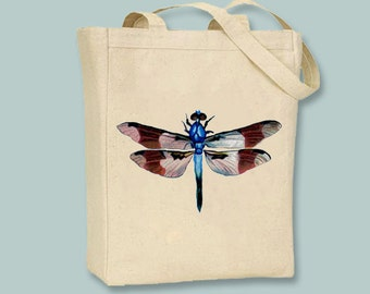 Beautiful Dragonfly Vintage Illustration  Canvas Tote - selection of sizes available