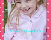 GIRL'S 2 Piece Set / Super Soft / Pink Cotton Knit Hoodie Jacket and Matching Pants / 4T / ready to ship