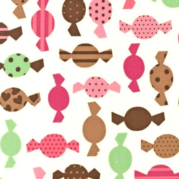 Tossed Candy on Vanilla Fabric Dessert Party AAK 1205285 Ann Kelly Designs for Robert Kaufman 100% Cotton Quilt Apparel Sewing Craft Food