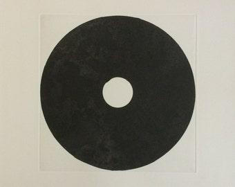 """Sale . Fine Art Etching . Black/ White. Minimalist: Surround 5. Print Size 18"""" x 18"""" . unframed"""