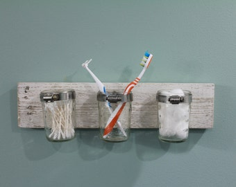 Rustic Bathroom accessory/toothbrush holder
