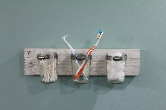 Rustic bathroom accessory toothbrush holder for Bathroom accessories electric toothbrush holder