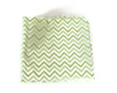 Swaddling blanket - Green Chevron Receiving Blanket - Gender Neutral Baby Gift