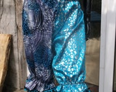 SALE blue animal print oceanic pom pom pantaloon bloomer pants uk size 14 16