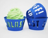 Blast Off Space Cupcake Wrappers  In Your Choice of Color Qty 12 By Your Little Cupcake