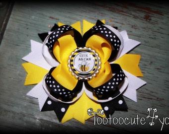 Bumblebee Hair Bow, Bee Hair Bow, Bumblebee Hair Clip, Bee Boutique Hair Bow,  Bee Hair clip, Bumblebee Hair bow