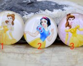Circle Yellow Fairy Princess Handmade photo glass cabochon dome bead 10mm 12mm 14mm 16mm 18mm 20mm 22mm 25mm 30mm For Ring Necklace Bracelet