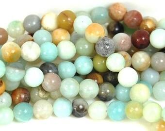 6mm Amazonite Natural  Round Beads -15 inch strand