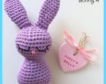 Lilac Crochet Bunny